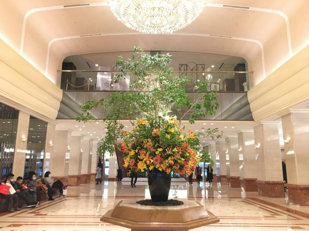 京王プラザホテルの花