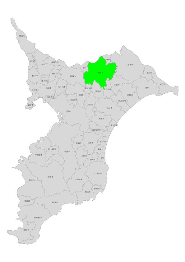成田市の位置